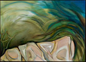 Reflected Waves Oil Painting by Paula Martiesian